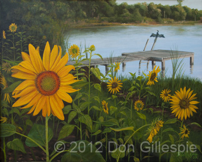 SUN FLOWER, DON GILLESPIE, DOCK, AHINGA
