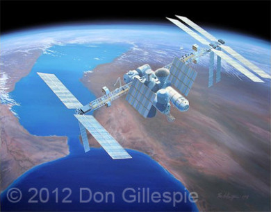 SPACE STATION, DON GILLESPIE