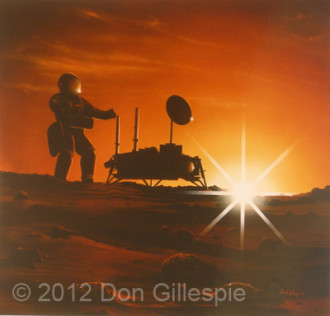 MANNED MARS MISSION, DON GILLESPIE, VIKING LANDER