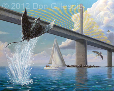 SUNSHINE SKYWAY, SPOTTED EAGLE RAY, DON GILLESPIE