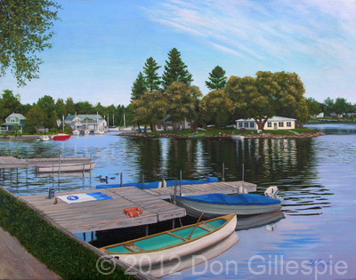 SALMON RIVER, PORT ONTARIO, DON GILLESPIE