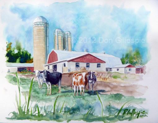 UPSTATE NEW YORK, COWS, FARM