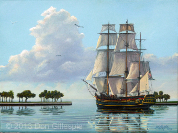 HMS Bounty, St Pete Florida, Don Gillespie Painting