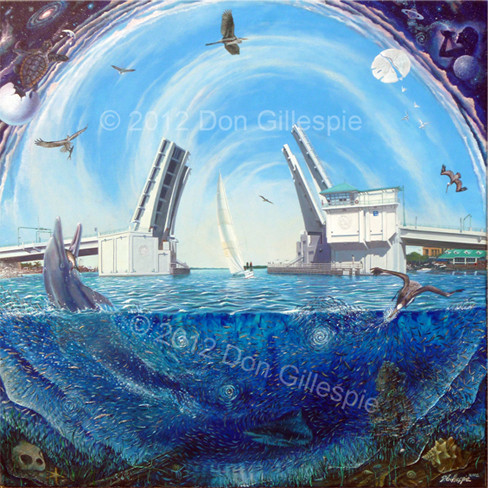 John's Pass Painting by Don Gillespie