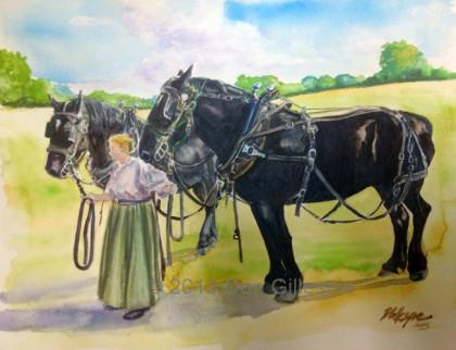 Horse Team, Gettysburg, paintings by Don Gillespie