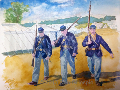 Civil War, Gettysburg, Paintings by Don Gillespie