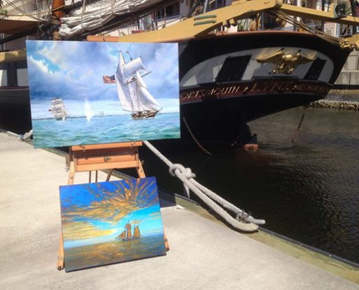 PRIVATEER LYNX, FUND RAISING, PAINTINGS BY DON GILLEPSIE, CANVAS ZOO