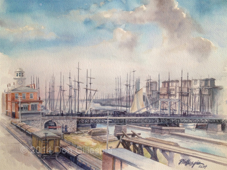 Oswego Harbor 1870s