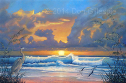 Sunset Beach Florida, Don Gillespie, skimmers