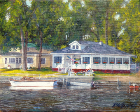 Don Gillespie Paintings, Oswego County New York, Camp painting, Donald Gillespie Painter